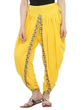 KAANCHIE NANGGIA yellow cotton dhoti salwar -  online shopping for Salwars