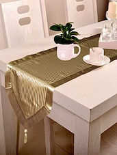 Lushomes Contemporary Light Beige Stripped Runner With A Hanging Tussel - By