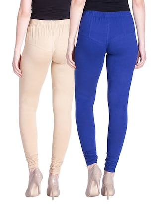 set of 2 multicolored cotton spandex leggings - 13934650 - Standard Image - 3