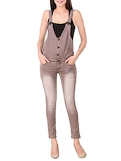brown denim dungree -  online shopping for Jumpsuits