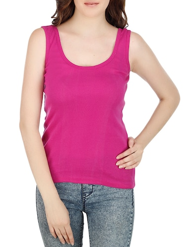 7fe84bc90a4a1 Buy sleeveless t shirts for women pink in India   Limeroad