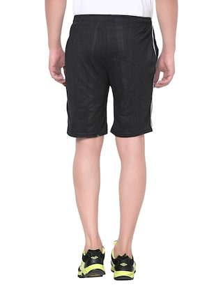 black cotton shorts - 13967823 - Standard Image - 3