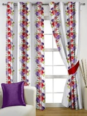 Set of Polyester Semi Transparent Window Curtains -  online shopping for Curtains