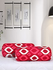Salona Bichona 100% Cotton Bolster cover set of 2 -  online shopping for pillow covers
