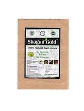 Shagun Gold Natural Black Hair Colour Set Of 4 100Gm - By