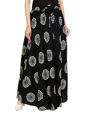 black printed cotton maxi skirt -  online shopping for Skirts