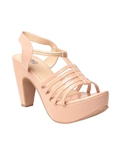 beige back strap sandal -  online shopping for sandals