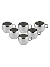 Mahavir 6 Pieces Ballon Tea/Coffee Cup Double Walled -  online shopping for Cups