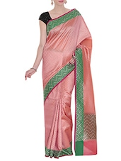 pink woven saree -  online shopping for Sarees