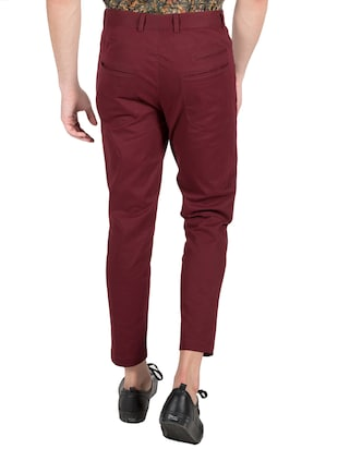 red cotton chinos - 14097711 - Standard Image - 3