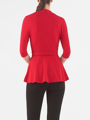 red cotton jersey top - 14132645 - Standard Image - 3