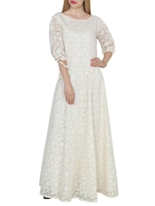 white cotton gown dress -  online shopping for Dresses