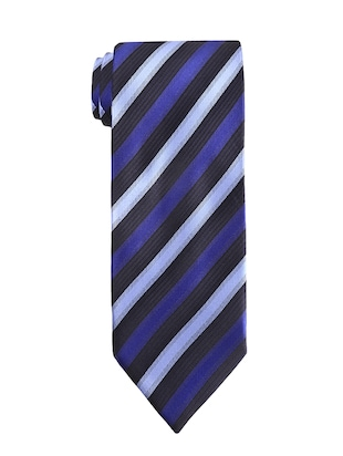 blue polyester tie - 14155467 - Standard Image - 3