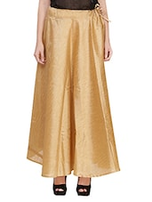 gold pure silk flared skirt -  online shopping for Skirts