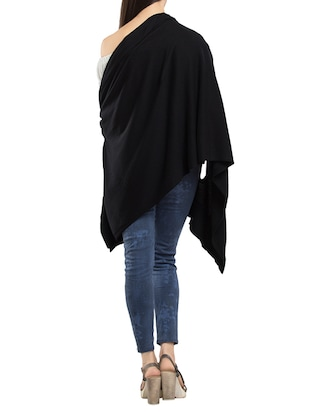 solid black cotton shrug - 14178412 - Standard Image - 3