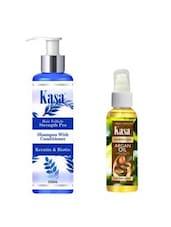 KASA Shampoo With Conditioner Hair Follicle Strength Pro(with Keratin & Biotin) 200 Ml & KASA Moroccan Argan Oil 50 Ml Combo - By