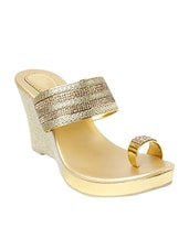 gold one toe wedge -  online shopping for wedges