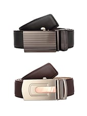 multi colored leather belt (Set Of 2) -  online shopping for Belts