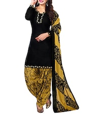 black cotton dress material -  online shopping for Dress Material
