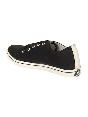 black Canvas lace up sneaker - 14292625 - Standard Image - 3