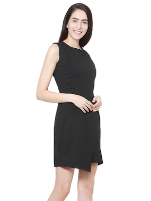 37873a85f3d Buy Black Asymmetrical Dress for Women from Allen Solly for ₹1159 ...