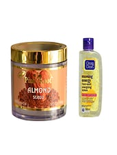 Pink Root Almond Scrub (100gm) With Clean & Clear Morning Energy Face Wash Energizing Lemon (100ml) Pack Of 2 - By