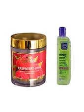 Pink Root Raspberry Scrub (100gm) With Clean & Clear Morning Energy Face Wash Purifying Apple (100ml) Pack Of 2 - By