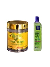Pink Root Sweet Lemon Butter Cream (100gm) With Clean & Clear Morning Energy Face Wash Purifying Apple (100ml) Pack Of 2 - By