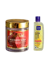 Pink Root Wild Cherry Scrub (100gm) With Clean & Clear Morning Energy Face Wash Energizing Lemon (100ml) Pack Of 2 - By