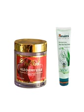 Pink Root Wild Cherry Scrub (100gm) With Himalaya Moisturizing  Aloe Vera Face Wash (100ml) Pack Of 2 - By