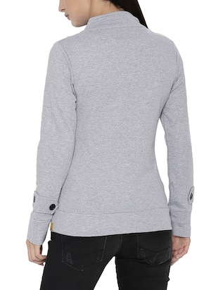 grey cotton jacket - 14320451 - Standard Image - 3
