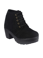 black synthetic ankle  boot -  online shopping for boots