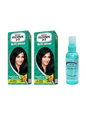 Pink Root Hair Serum (100ml) With 2 X Super Vasmol 33 Kesh Kala Hair Oil 100ml Pack Of 3 - By