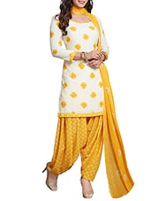 white crepe patiyala suits dress material -  online shopping for Dress Material