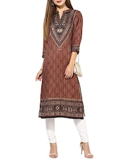 maroon straight woolen kurta -  online shopping for Woolen kurtas