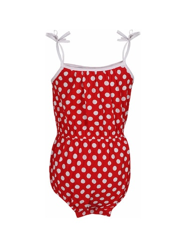 red cotton playsuit - 14336016 - Standard Image - 1