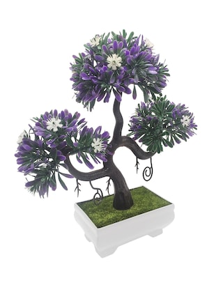 Buy artificial bonsai tree with purple leaves and white flowers by buy artificial bonsai tree with purple leaves and white flowers by random flowers online shopping for indoor plants in india 14344245 mightylinksfo
