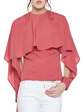 solid red casual top -  online shopping for Tops