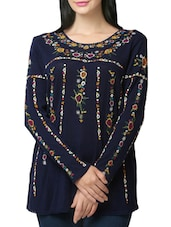 blue cotton regular top -  online shopping for Tops