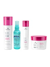 Schwarzkopf Color Freeze Conditioner+Masque+Shampoo With Pink Root Hair Serum Pack Of 4 - By