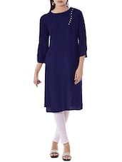 blue rayon straight kurta -  online shopping for kurtas