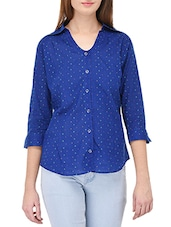 dark blue cotton shirt -  online shopping for Shirts