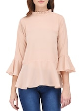 pink georgette casual top -  online shopping for Tops