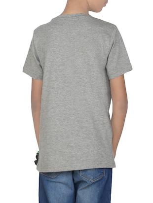 grey cotton t-shirt - 14387464 - Standard Image - 3