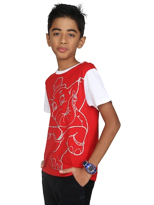 red cotton tshirt - 14387497 - Standard Image - 3