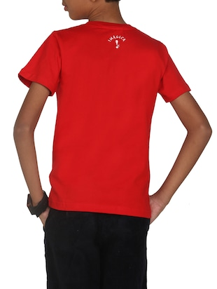red cotton tshirt - 14387525 - Standard Image - 3