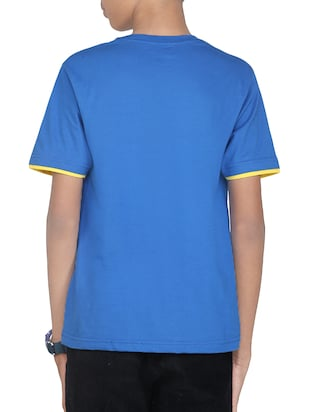 light blue cotton tshirt - 14387538 - Standard Image - 3