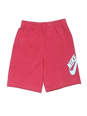 red polyester blend shorts & three fourth -  online shopping for shorts & three fourth