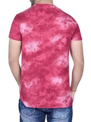pink cotton all over print tshirt - 14404670 - Standard Image - 3