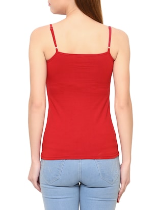 Red cotton camisole - 14413972 - Standard Image - 3